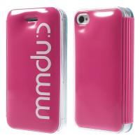 Mmduc Bubble Flip Leren Shield Case voor iPhone 4 4S - Rose