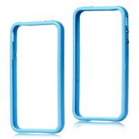 Blauwe bumper case voor iPhone 4 en 4S