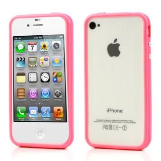 Roze bumper case voor iPhone 4 en 4S